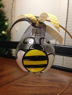 Glass Bumble Bee Ornament