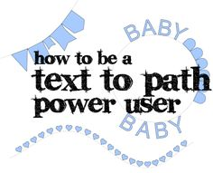 How to use text to path for more than just words.