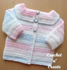 An easy peasy baby cardigan, suitable for the beginner crocheter. You will love the quickness and ease of this long sleeve free crochet pattern .........