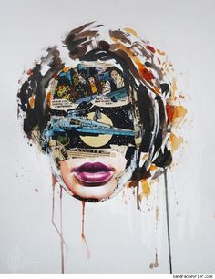Sandra Chevrier Mixes Media With Comic Book Portraits [Art] - ComicsAlliance | Comic book culture, news, humor, commentary, and reviews