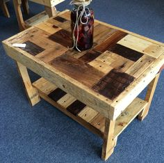 Reclaimed Pallet Table by StrongArmsCrafts on Etsy