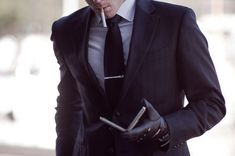Love the suit hate the smoking
