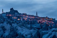 Twilight in the Citadel of Uçhisar by Costin Lazarescu on 500px