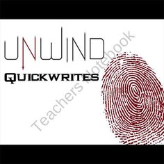 UNWIND Journal - Quickwrite Writing Prompts - PowerPoint from CreatedForLearning on TeachersNotebook.com (28 pages)  - UNWIND Journal - Quickwrite Writing Prompts - PowerPoint  This 28-slide UNWIND PowerPoint never fails to get conversation started. And not just any surface conversation. In response to each question, students will write a short quickwrite essay in a journ
