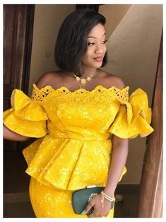 Short African Dresses, Latest African Fashion Dresses, African Print Fashion, Long Dresses, African Lace, Lace Skirt And Blouse, Nigerian Lace Styles, African Fashion Traditional, Lace Dress Styles