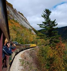 North Conway, NH - Conway Scenic Railroad.  Three different train rides in restored passenger cars