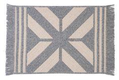 4'x6' Sedona Wool Blend Rug, Gray