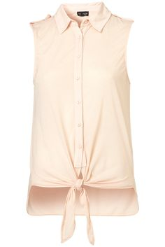 Knot Front Shirt from Topshop