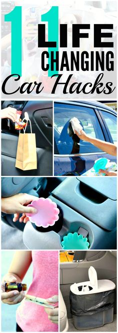 File this under: life hacks. Spring is here, or at least for some of us, and that means lots of cleaning. We've rounded up ten more easy life hacks that aim … Organisation Hacks, Diy Organization, Diy Car Cleaning, Cleaning Products, Diy Auto, Clean Your Car, Cleaning Painted Walls, Car Hacks, Hacks Diy