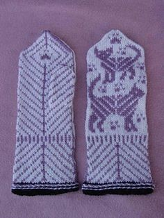 Mittens with catmotif