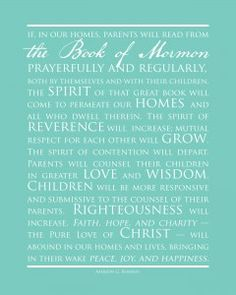 Book of Mormon Promise. Marion G. Romney. One of my favorite quotes!