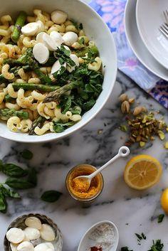 Lemon and Asparagus Pasta by joy the baker, via Flickr