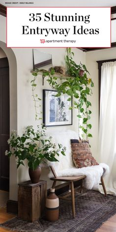 Borrow inspiration from these great entryway spaces full of design ideas and small space solutions. Home Entrance Decor, House Entrance, Small Entryway Decor, Small Apartment Entryway, Entryway Art, Home Decor, Entry Way Design, Foyer Design, House Design