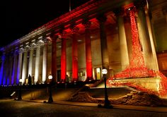 Weeping Window poppies at St Georges Hall. Flickr image by Terry Quinn