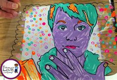 """Stained Glass Selfies - Blog post by Literacy Loves Company.  Beginning or end of the year art project.  Could link to """"about me"""" writing!"""