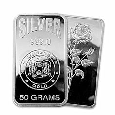 Emirates Silver Bar - Circulated in good condition - 50 gram - VAT FREE