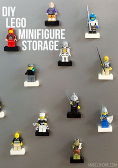 DIY Lego Minifigure Storage via MakelyHome.com