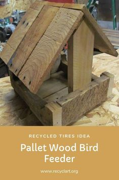 lady at work asked me to make her a little Pallet Wood Bird Feeder. I did some online research and incorporated a few different ideas along with my own to come up with this project. It is made only using pallet wood. Wooden Pallets, Pallet Wood, 1001 Pallets, Rustic Pallet Ideas, New Pallet Ideas, Wood Bird Feeder, Pallet House, Garden Pallet, Pallet Gardening