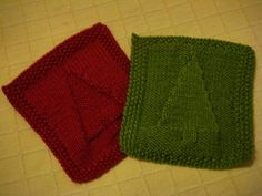 Ravelry.com Christmas dish cloth