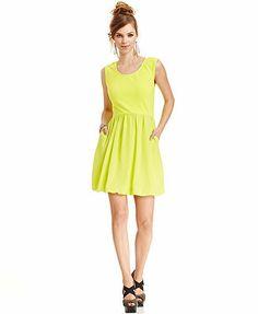 Bar III Sleeveless Bubble-Hem Dress