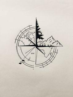 Engraving aur of the world - Engraving aur of the world - #arrowtatto #aur #birdtatto #compasstatto #cutetatto #engraving #lotustatto #tattoideen #tattoleg #treetatto #world