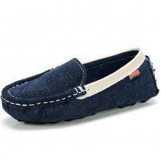 Children Shoes Flats Kids Leather Sneakers Suede Calfskin Casual Boat Footwear Slip on Loafers
