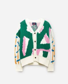 The Animals Observatory Cardigan Laine et Cachemire Peasant Vert sapin Fashion Kids, Quirky Fashion, Toddler Fashion, Retro Fashion, Fashion Design, Outfits For Teens, Cute Outfits, Kids Clothing Brands, Preppy Girl