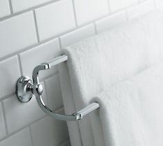 Amazon.com: KOHLER K-11413-CP Bancroft 24-Inch Double Towel Bar, Polished Chrome: Home Improvement