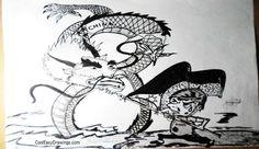 Chinese Dragon Drawing Cartoons About South China Sea Conflict Chinese Dragon Drawing, Cool Easy Drawings, Drawing Cartoons, Cartoon Shows, Filipino, Flag, Pencil, Dots, China