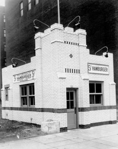 First Ohio White Castle, built in Cincinnati in 1929. 5 cent hamburgers!