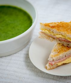 Watercress soup with cheddar toasties by Nathan Outlaw