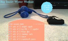 Stay Inside! Winter Workout | For the Sake of Cake