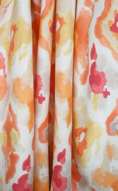 Warm and juicy watercolour fabric print! || Jewelscape, Cantaloupe Fabric by P/Kaufmann - Tonic Living