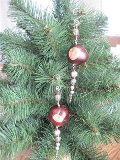 Set of 2 ICICLE ornaments Scarlet and Silver by foxdesignsjewelry, $8.00