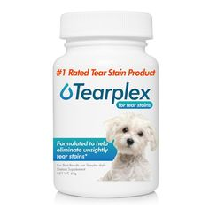 Tear Stain Supplement - Tearplex for Dogs and Cats , 1 Rated Natural Tear Stain Product - Made In The USA, 100% Tylosin Free , Veterinarian Trusted - Beef Flavored -- See this great product.