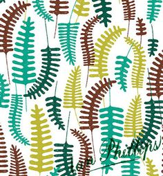 Fern pattern ©Ian Phillips featured on Print and Pattern blog:  http://printpattern.blogspot.ca/2013/05/surtex-2013-ian-phillips.html