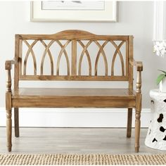 Safavieh Benjamin Oak Finish Bench