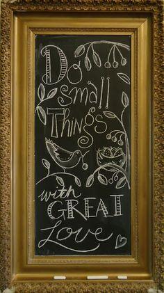chalkboard quotes | Kathy Schmitz: CHALKBOARD DOODLE QUOTE