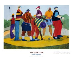 """""""The Stick Club"""" by contemporary African American artist Dane Tilghman."""