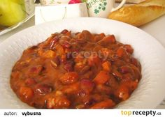 Bretaňské fazole recept - TopRecepty.cz Slovak Recipes, Czech Recipes, Ethnic Recipes, Ratatouille, Chana Masala, Lentils, Metabolism, Dairy Free, Beans