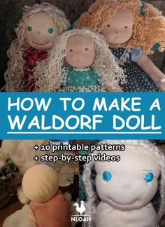 How To Make A Waldorf Doll (Free Patterns and Videos) Why spend hundreds of dollars on a Waldorf doll when you can make your own? We show you how to do it step by step, also on video + free printables. Doll Patterns Free, Doll Sewing Patterns, Sewing Dolls, Free Pattern, Doll Making Tutorials, Sock Dolls, Rag Dolls, Homemade Dolls, Silicone Baby Dolls