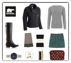 """""""Tame Winter with SOREL: Contest Entry"""" by mariannamic on Polyvore featuring SOREL, MANGO, Falke, WearAll, MICHAEL Michael Kors, Chanel, Whistles, Happy Plugs, Olivia Burton and sorelstyle"""