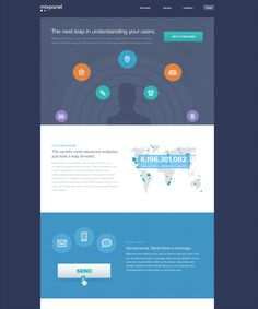Mixpanel Website Landing Page, Infographics  by Mason Yarnell