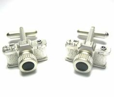 Silver Camera Cufflinks CuffCrazy. $27.99. 3D Silver Plated Camera Cufflinks. Free Black Carrying Bag Included!. Money Back if not 100% Satisfied