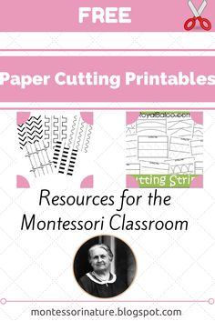 Montessori Nature: Free Paper Cutting Printables - Resources for the Montessori Classroom (KLP Linky Party)