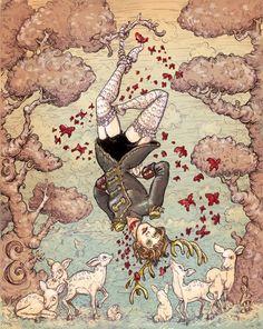 Amanda Palmer print by mollycrabapple on Etsy