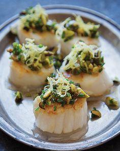 Scallops with Pistachio & Lemon #SweetPaul