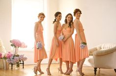 Did a little birdie tell you about Twobirds? Twobirds Bridesmaids is a company that offers a wonderful alternative to a stylish bridesmai. Two Birds Bridesmaid, Country Bridesmaid Dresses, Wedding Dresses, Bridesmaids, Multi Way Dress, Coral Dress, 15 Dresses, Peach Dresses, Wrap Dresses