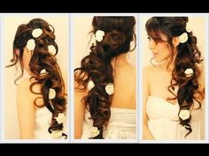 How to do this on your own hair! Long Wedding Hairstyles Tutorial
