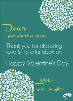 Pro Life Valentine's Day card